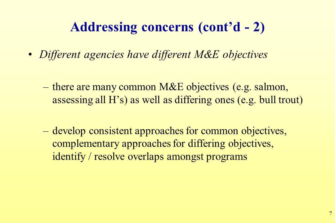 Addressing concerns (cont'd - 2)