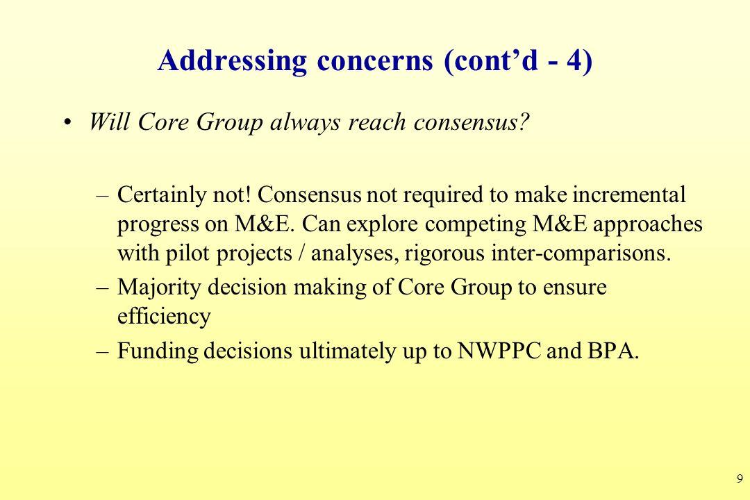 Addressing concerns (cont'd - 4)