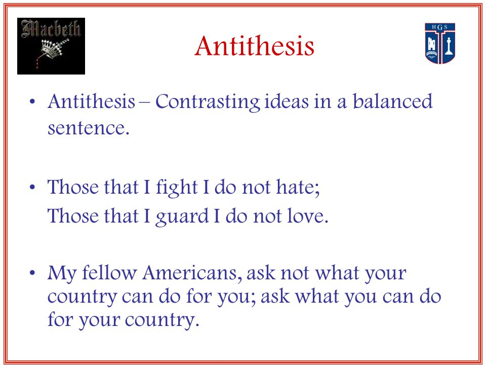 Antithesis Poems | Examples of Antithesis Poetry