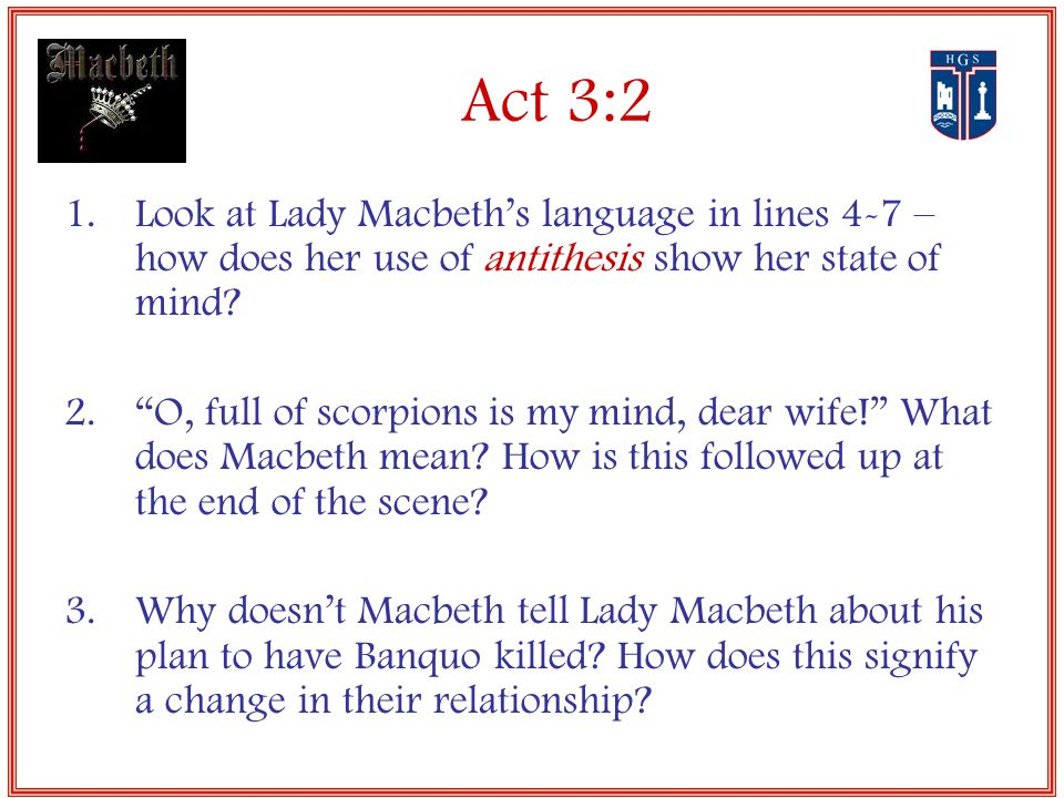 thesis statement on macbeth and lady macbeth
