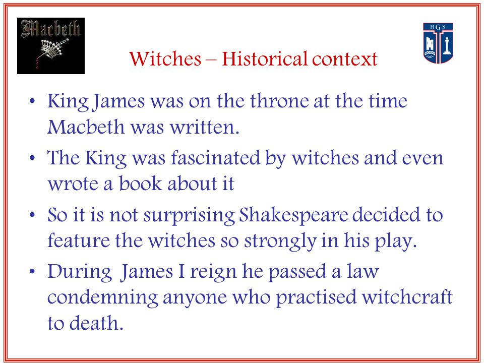 the prophecy and the witches in macbeth by william shakespeare William shakespeare's macbeth: plot after having gone to the witches, macbeth failed to realize that malcom in his exile was shakespeare, william.
