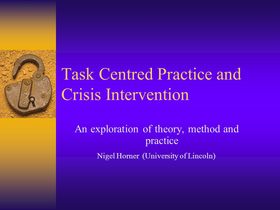task centred theory