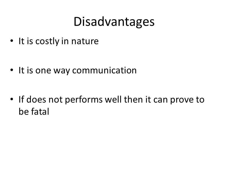 disadvantages of one way communication pdf