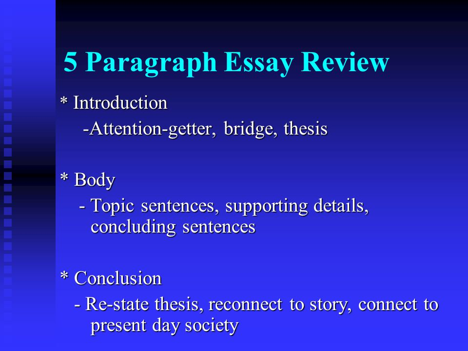 supporting sentence on essays The best way to understand the role of the topic sentence in paragraph development is to imagine that any given paragraph is a miniature essay that has its own thesis, support.