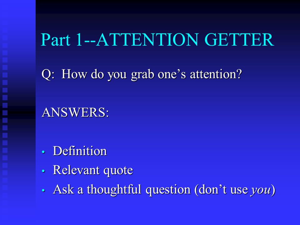"""college essay attention getter Illinois valley community college writing center writing an essay introduction the """"attention-getter"""" every formal essay introduction should start with an attention-getter."""