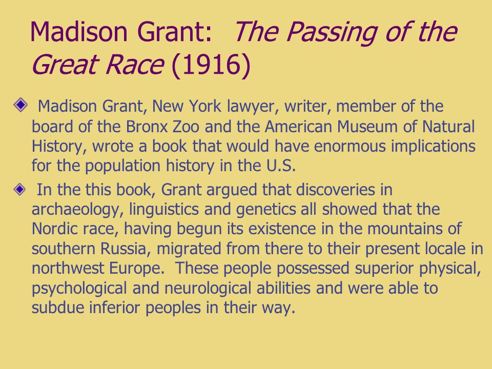 madison grant the passing of the great race pdf