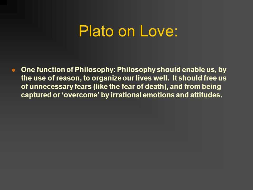 plato symposium love essay Then, following the course of plato's symposium, the essay ascends  and  heroes which reflect their creators' self-love and patriotic love of.