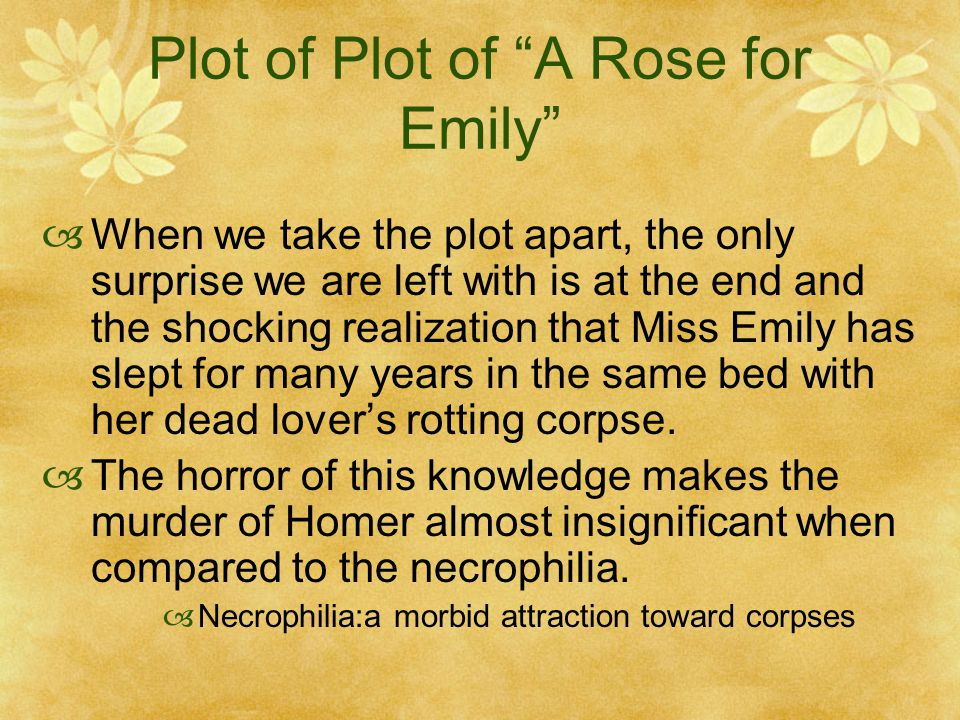Necrophilia in a rose for emily essay