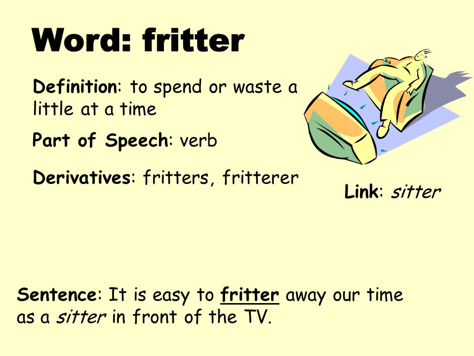 "fritter away All answers for ""fritter away, as time"" find the right answers to your crossword clues set and sort by length & letters helpful instructions on how to use the tool solve every crossword puzzle."