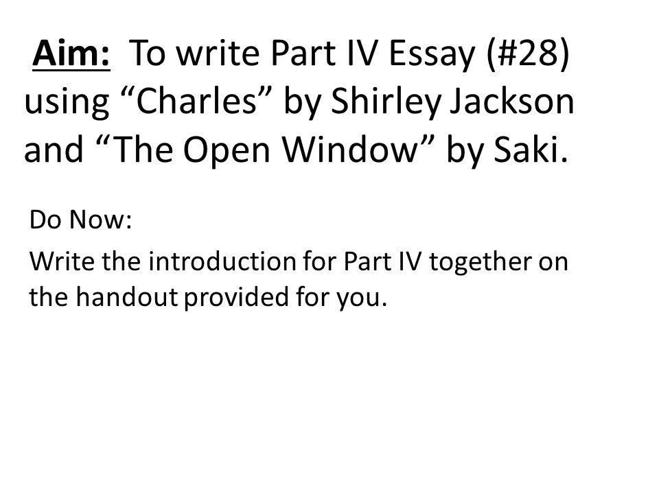 4 part essay