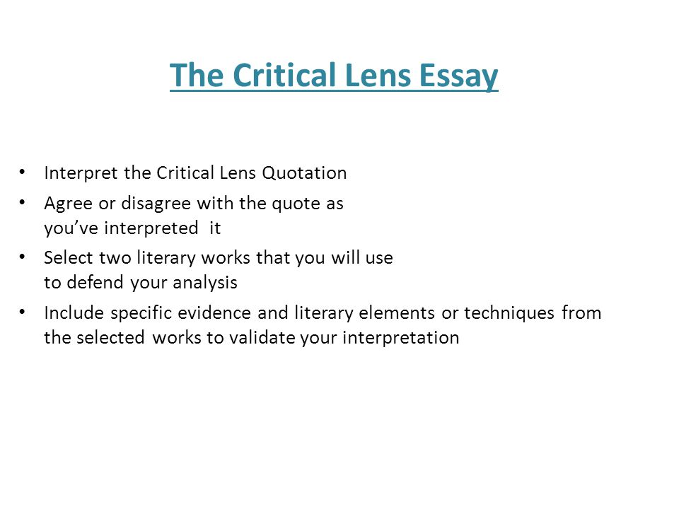 books critical lens essay Critical lens essay on the book night by elie wiesel essay by yankeefansam , high school, 10th grade , a+ , december 2004 download word file , 5 pages download word file , 5 pages 50 2 votes.