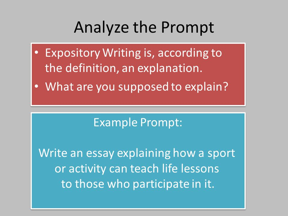Expository Essay Definitions