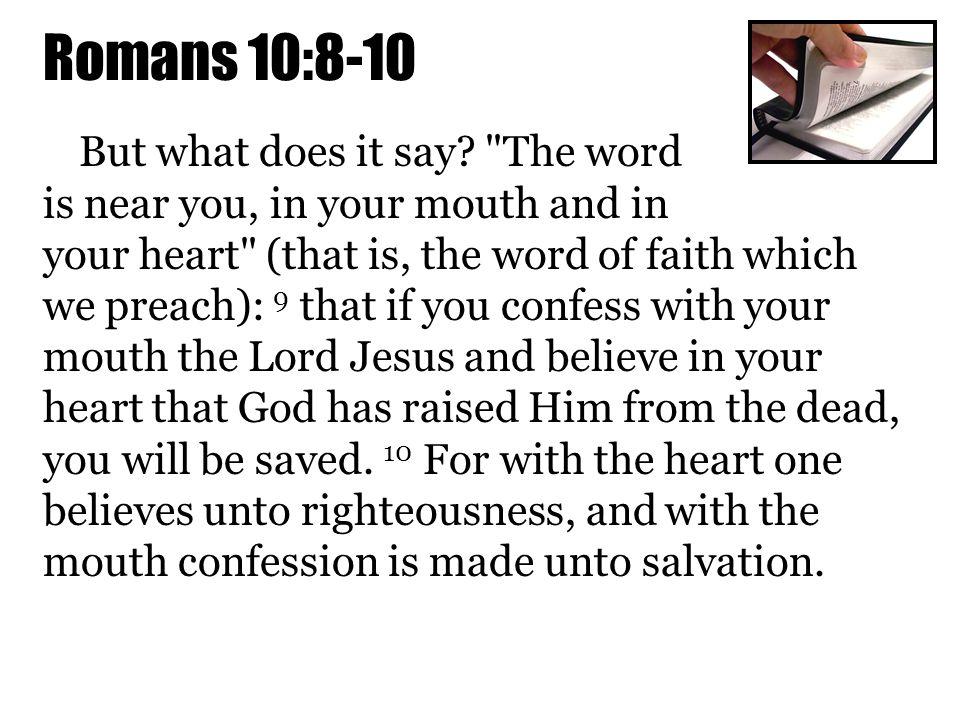 Romans 10:8-10