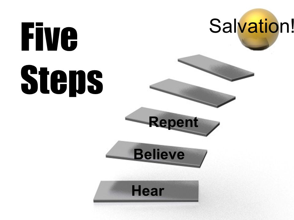 Five Steps Salvation! Repent Believe Hear