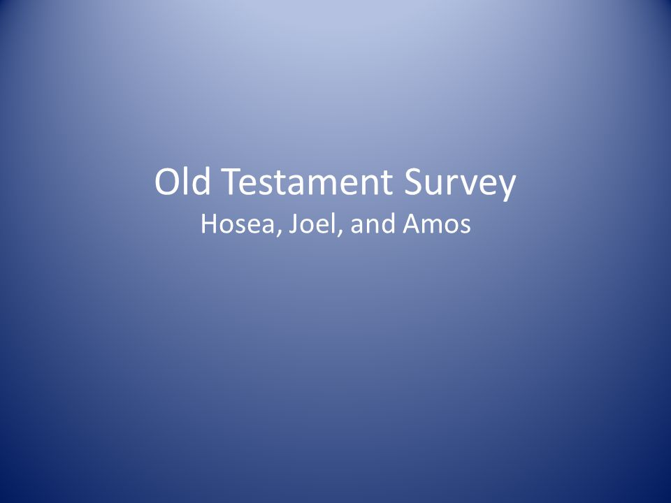 old testament survey I am definitely enjoying the old testament survey so far this is a great addition to the fulfilled online study i am participating in with others in your facebook group.