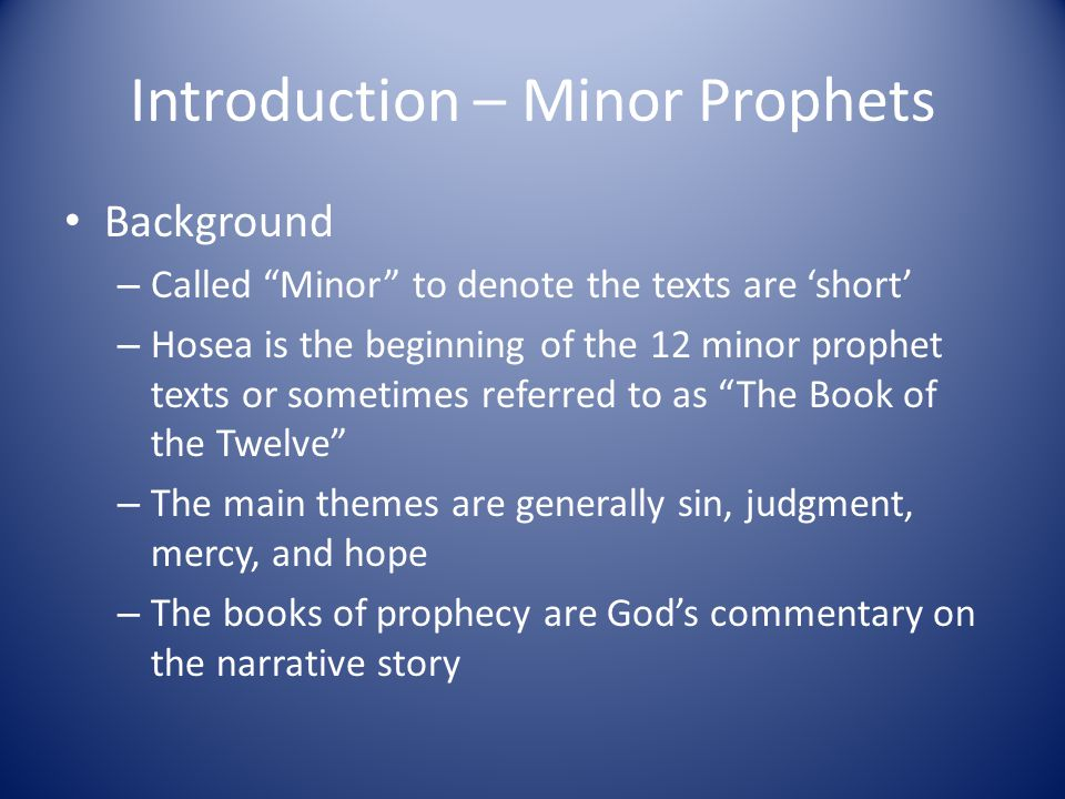 minor prophet amos Take the prophet amos as an example he was about as unlikely a prophet as you would ever find  series navigation the minor prophets #1 the minor prophets.