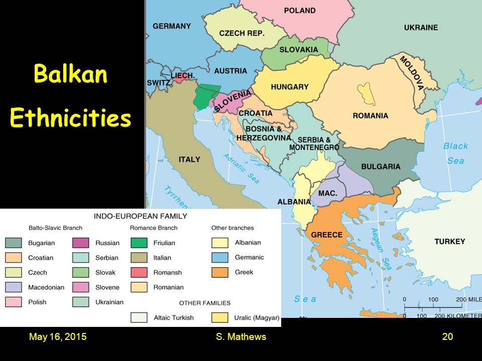 Balkan Ethnicities April 15, 2017 S. Mathews