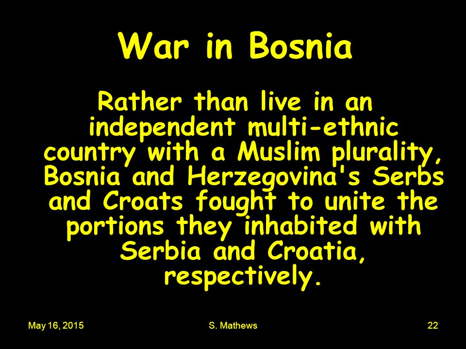 War in Bosnia