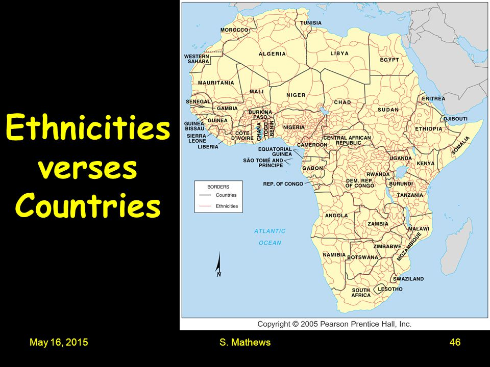 Ethnicities verses Countries