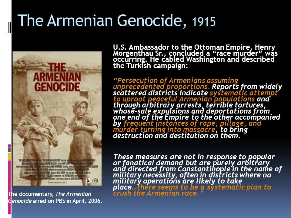 """response to armenian genocide The armenian genocide happened, but turkey's dilemma is profound the muslim nation most like today's liberal west, it can remain guilty of """"crimes against."""
