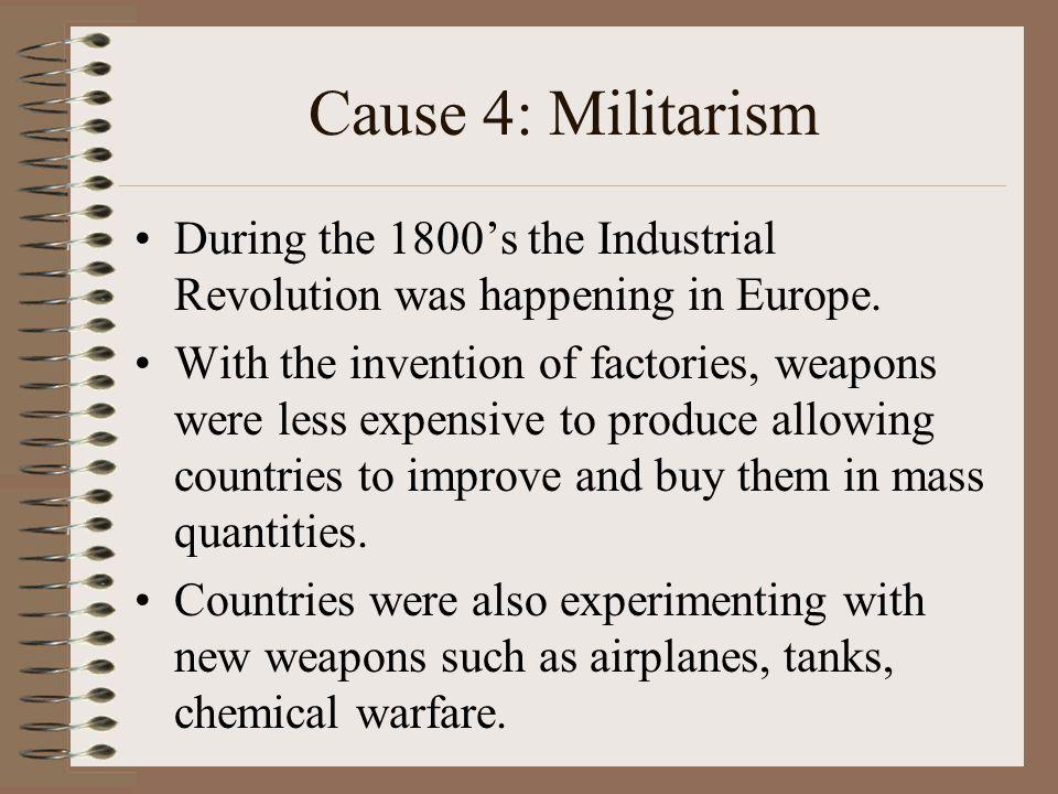 industrial revolution warfare militarism The industrial revolution provided both the mechanical engine ofprogress and the emotional engine of progress.
