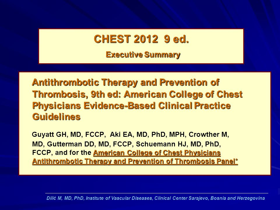 CHEST ed. Executive Summary