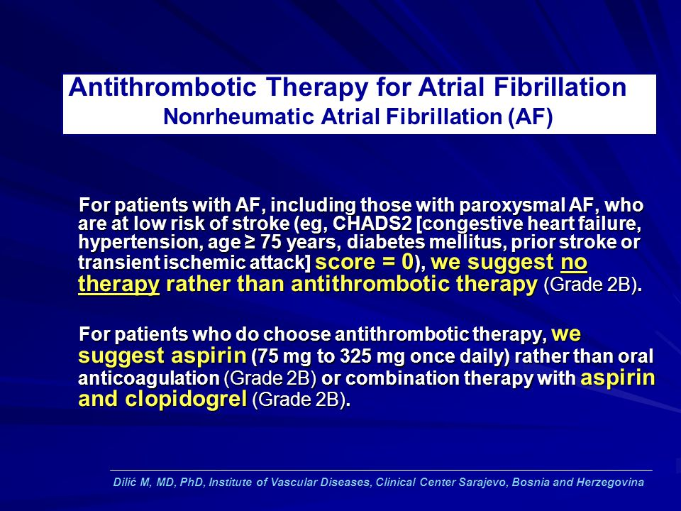 Antithrombotic Therapy for Atrial Fibrillation