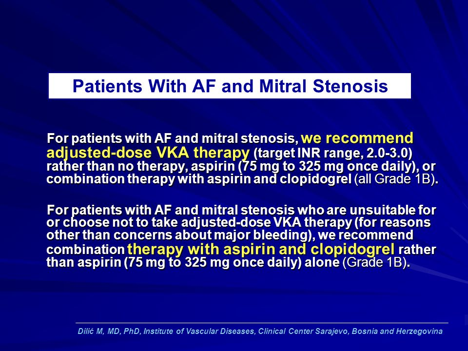 Patients With AF and Mitral Stenosis