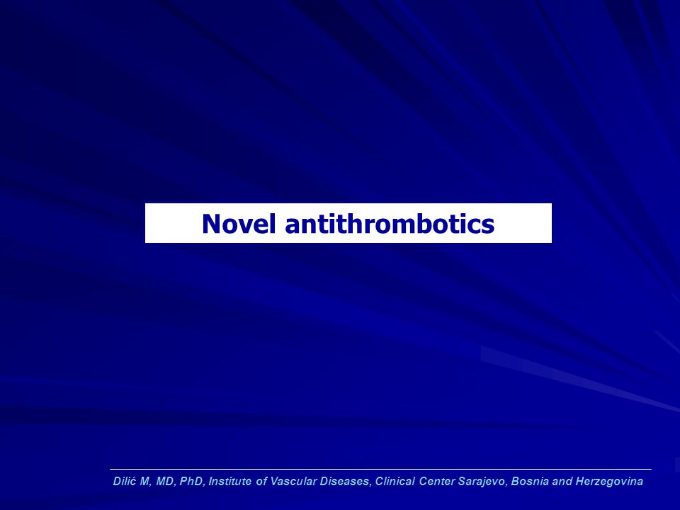 Novel antithrombotics