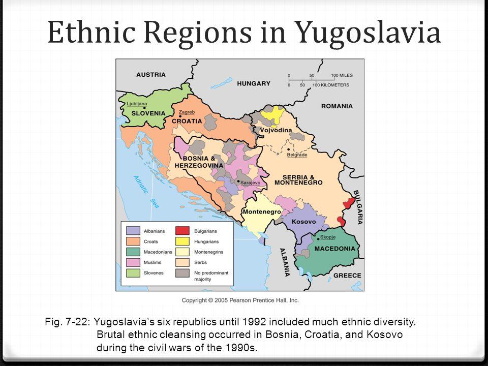 Ethnic Regions in Yugoslavia