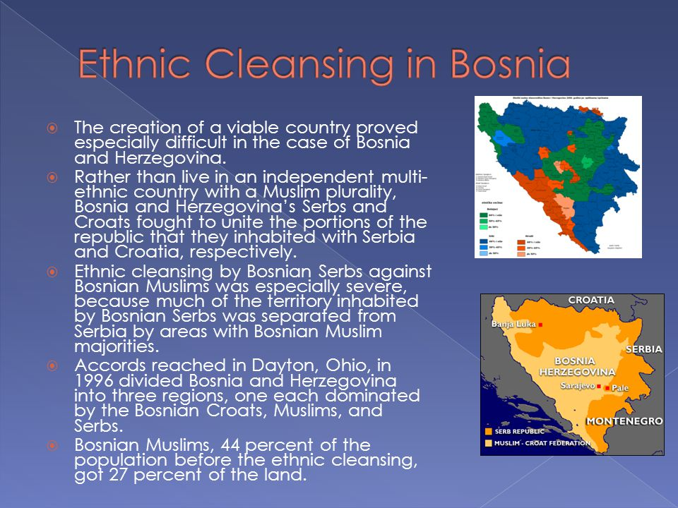 Ethnic Cleansing in Bosnia