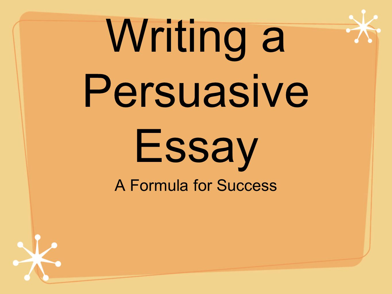 objective for writing a persuasive essay Writing an argumentative essay the argumentative essay, although bearing many similarities to the persuasive (argument) essay, has several very distinct differences the objective of a persuasive essay is to win the reader over to writing the argumentative essay.