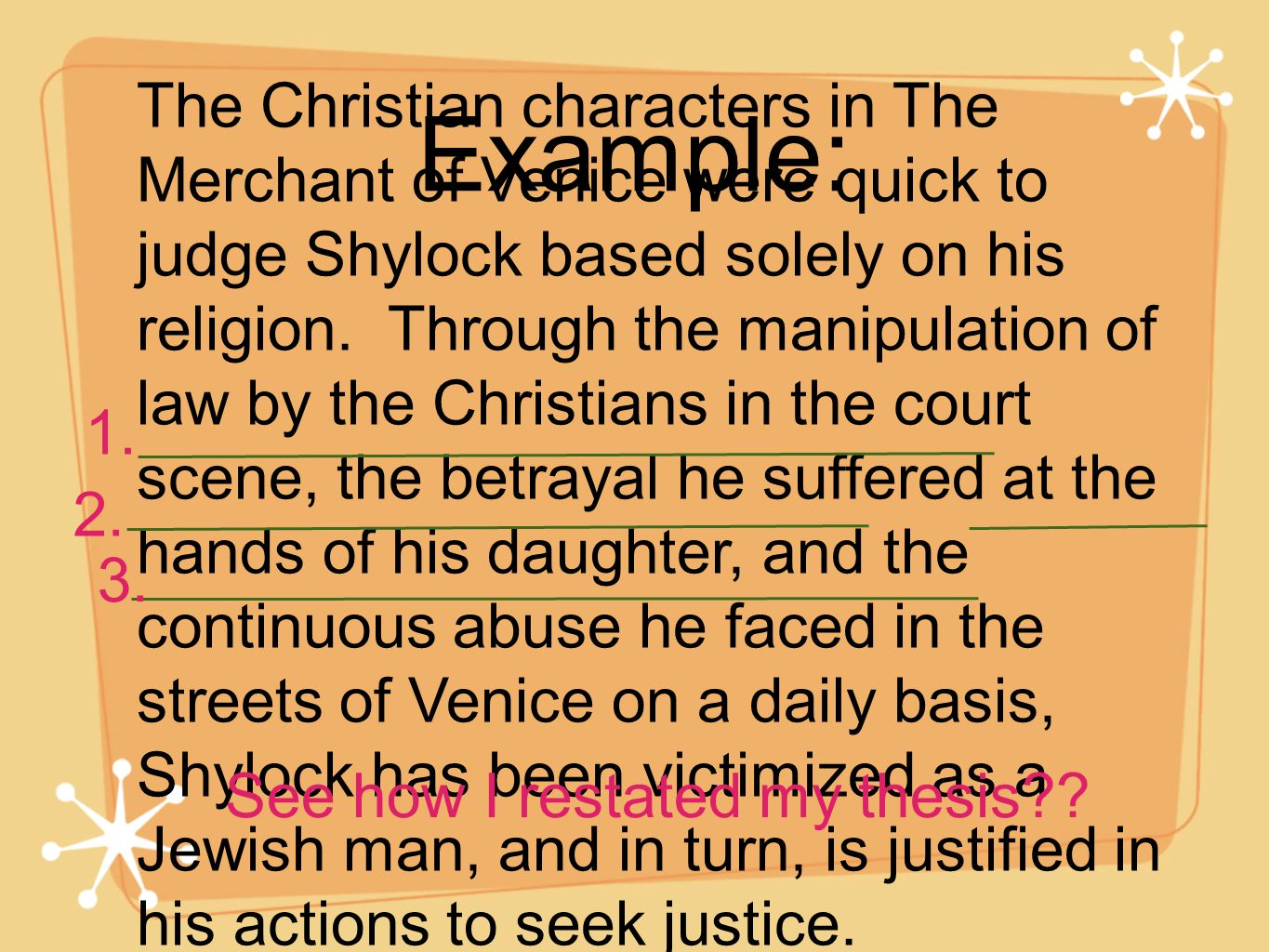 merchant of venice essay prejudice The themetracker below shows where, and to what degree, the theme of prejudice and intolerance appears in each scene of the merchant of venice click or tap on any chapter to read its summary & analysis.