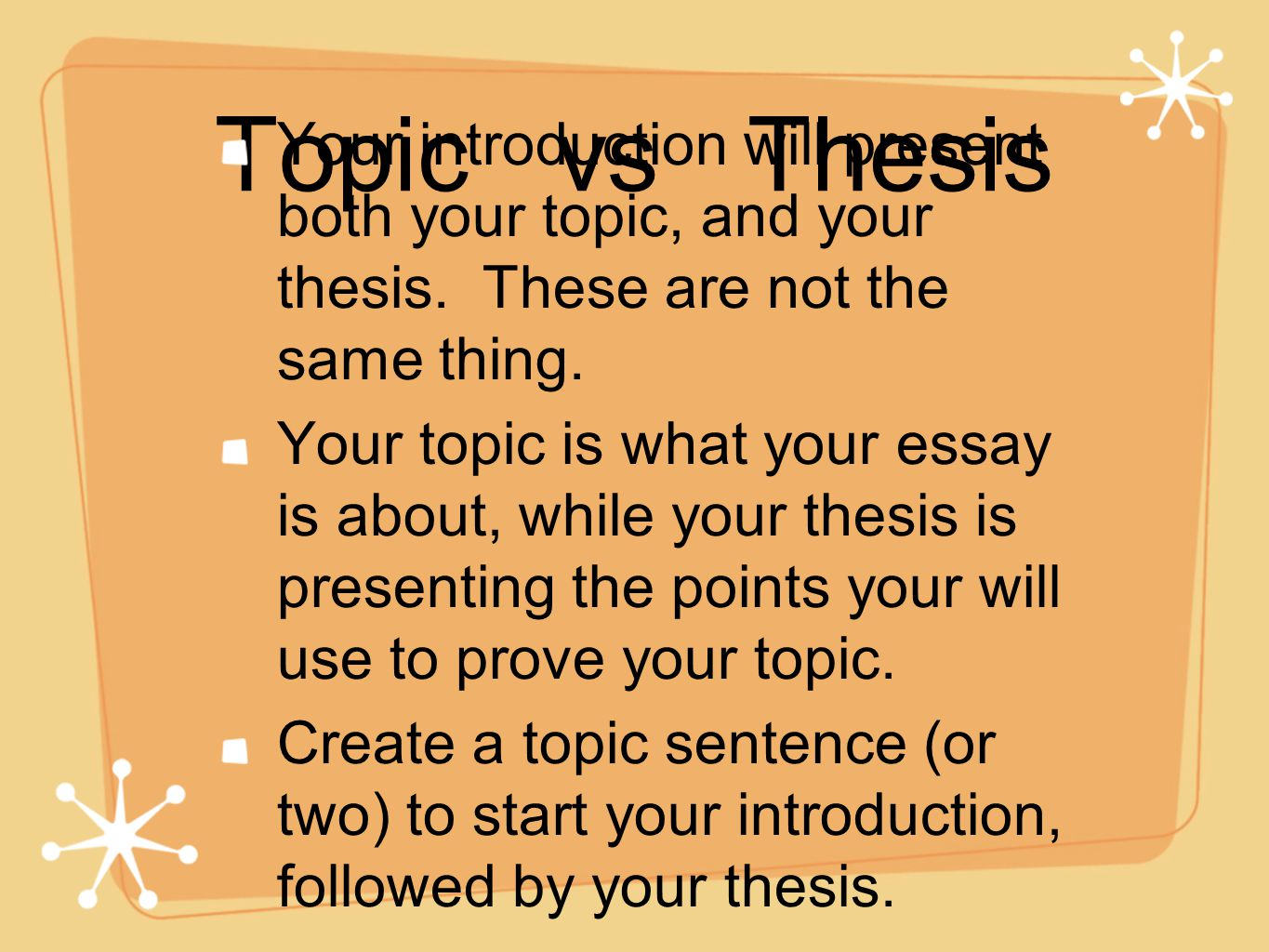 What is introduction in thesis writing