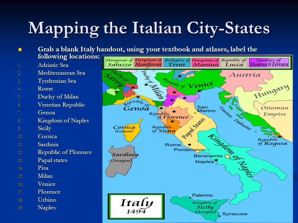 Social Studies 8 Chapter 1 Ppt Download: Map Of Italian City States At Slyspyder.com