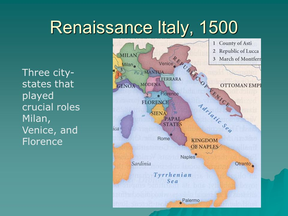 Renaissance and reformation ppt download 3 renaissance italy 1500 three city states sciox Choice Image