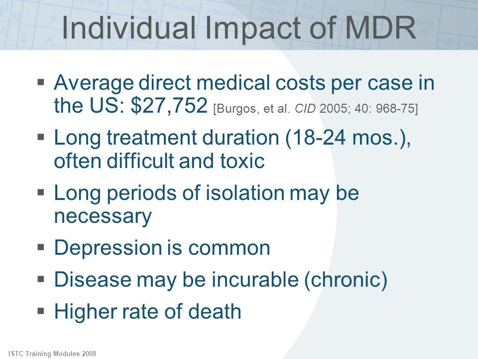 Individual Impact of MDR