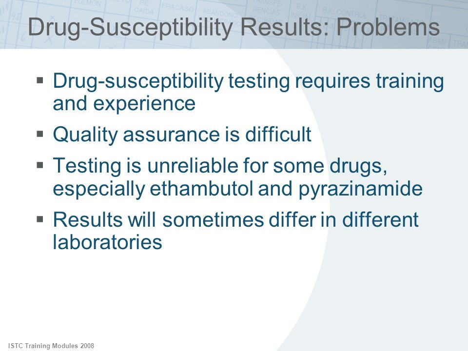 Drug-Susceptibility Results: Problems
