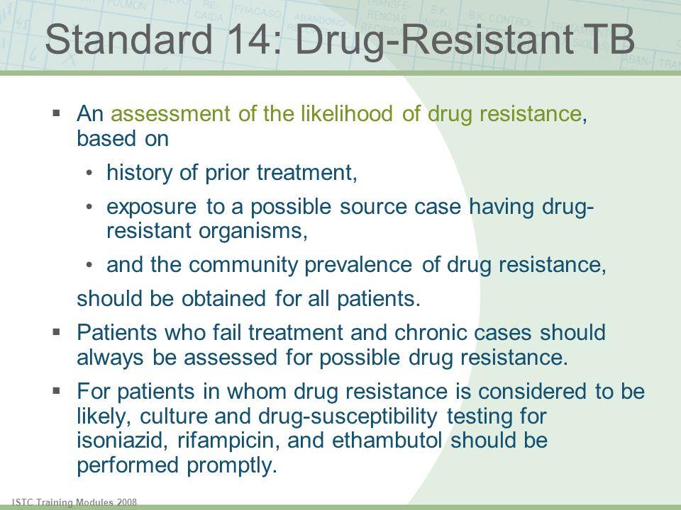 Standard 14: Drug-Resistant TB