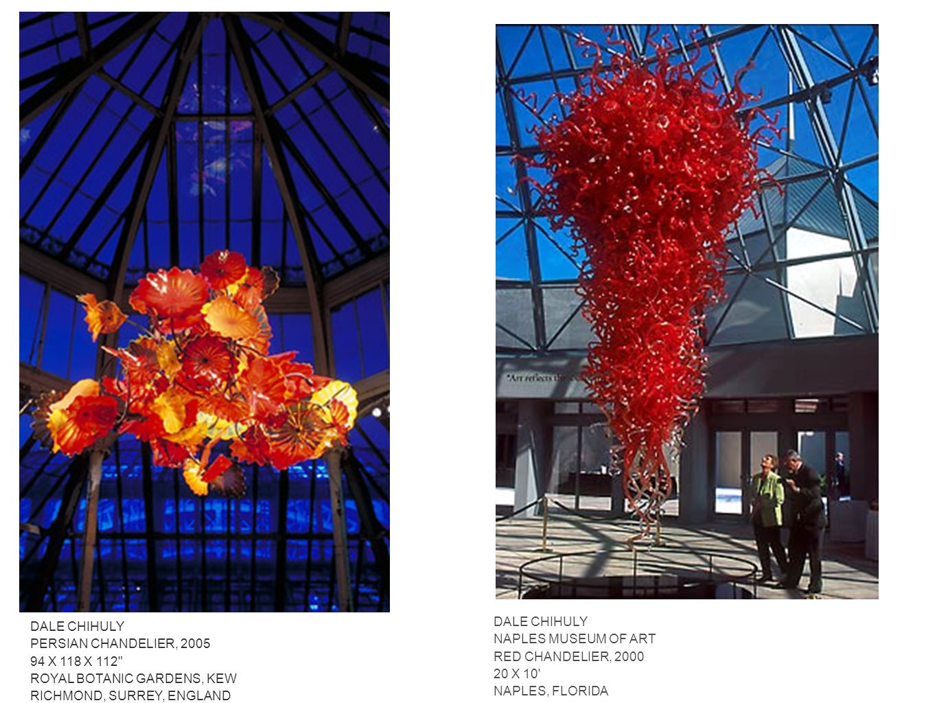Dale chihuly contemporary artist ppt download dale chihuly naples museum of art red chandelier 2000 20 x 10 naples arubaitofo Image collections