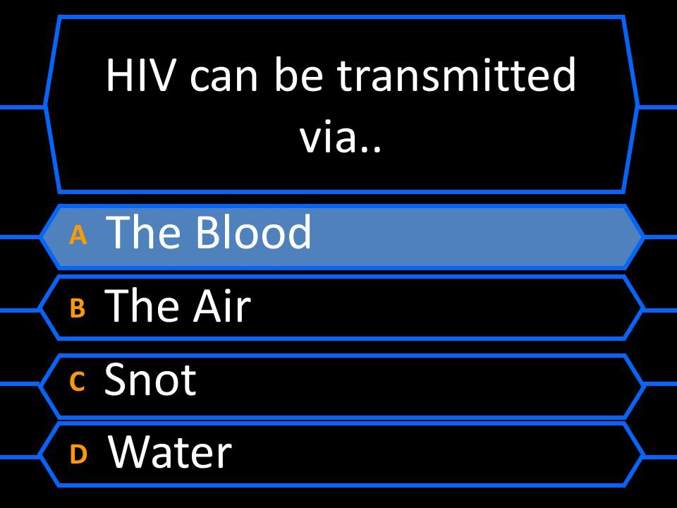 HIV can be transmitted via..