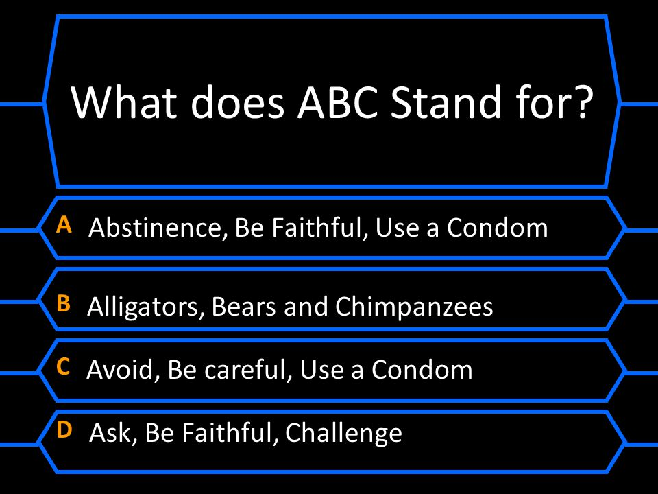 What does ABC Stand for A Abstinence, Be Faithful, Use a Condom