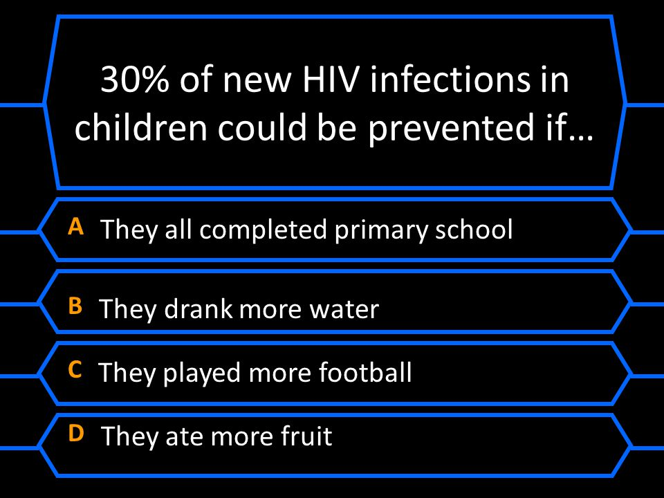 30% of new HIV infections in children could be prevented if…
