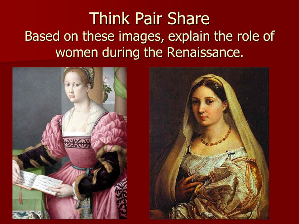 women during the renaissance essay Free essay: between the 1300s and 1500s, europe experienced a period of cultural rebirth known as the renaissance, marking the transition from medieval times.