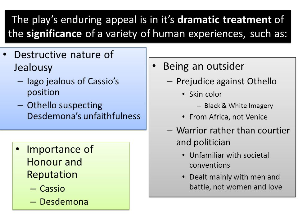 othello essay assessment task ppt  destructive nature of jealousy being an outsider