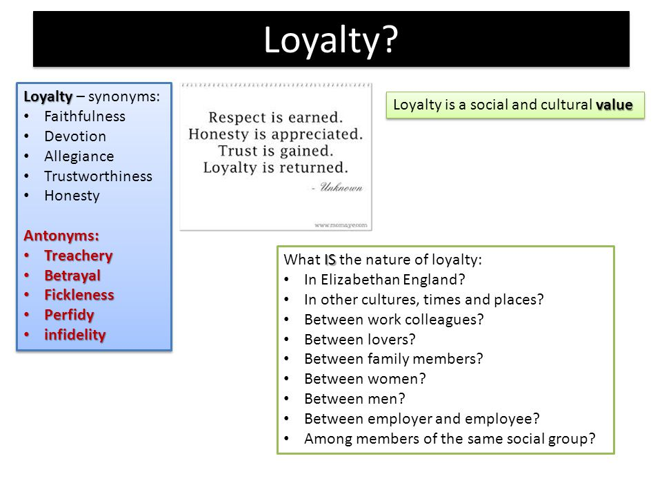 persuasive essay about loyalty