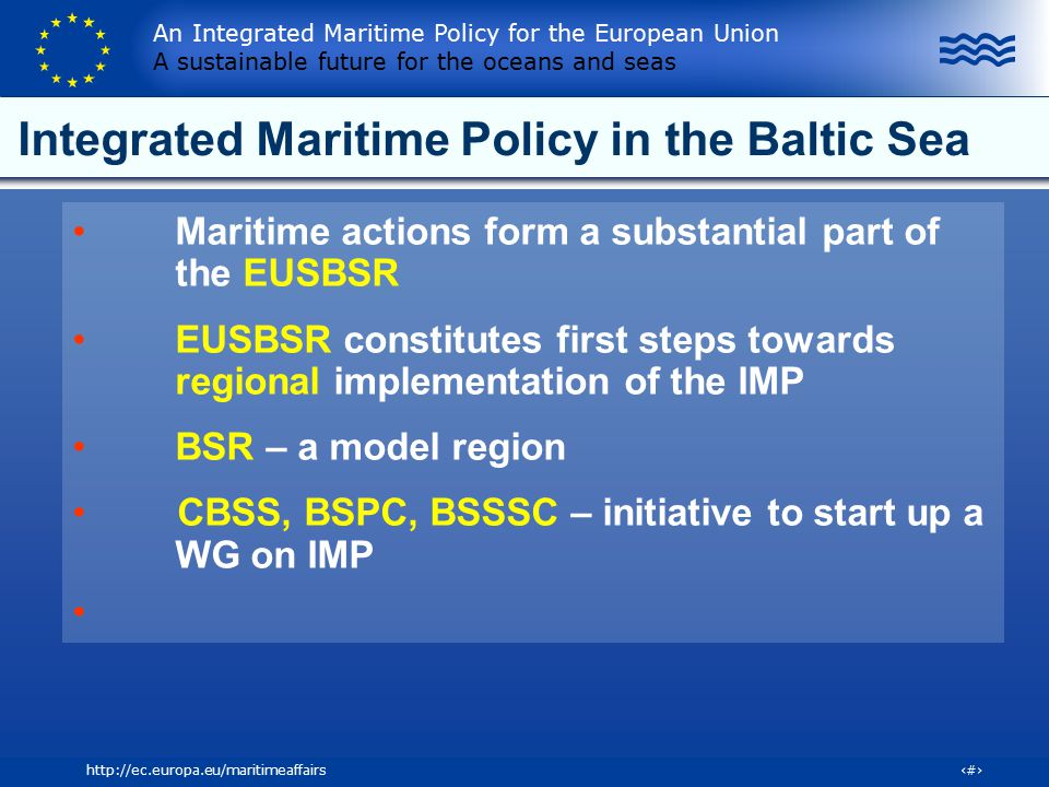 Integrated Maritime Policy in the Baltic Sea