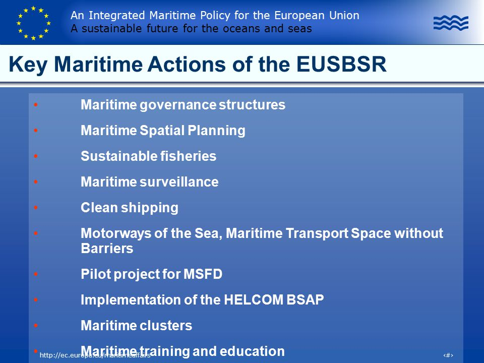 Key Maritime Actions of the EUSBSR