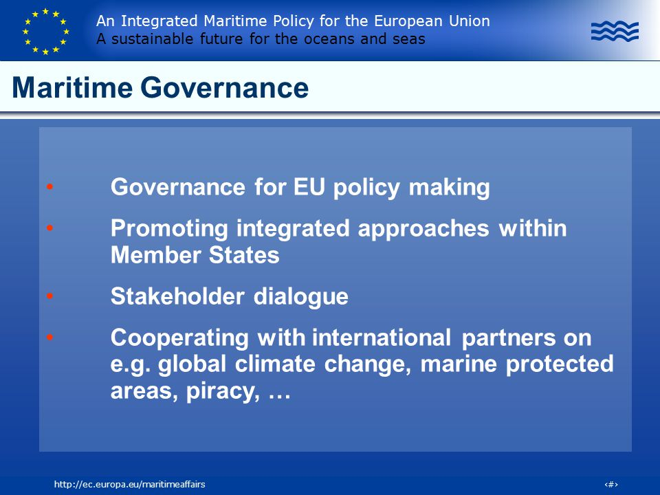 Maritime Governance Governance for EU policy making