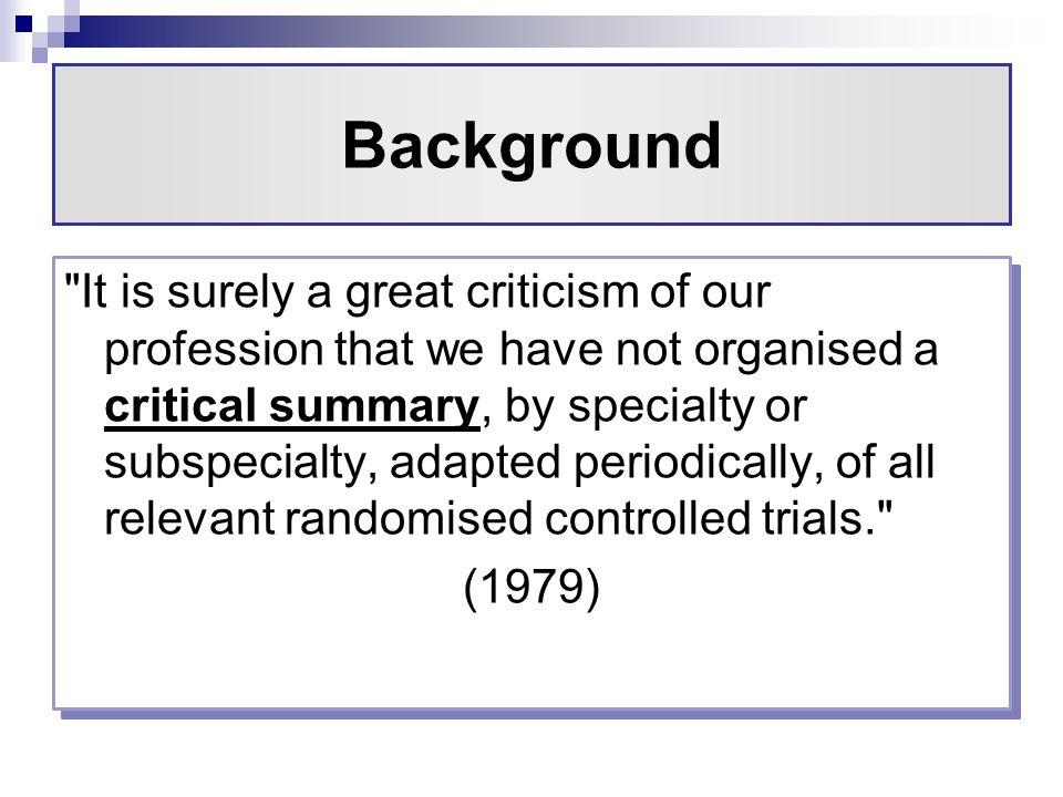 Randomized controlled trials essay